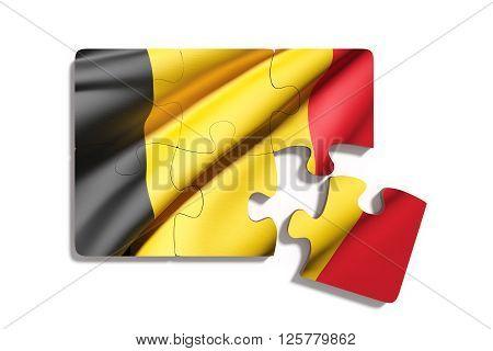 Puzzle Belgium Flag