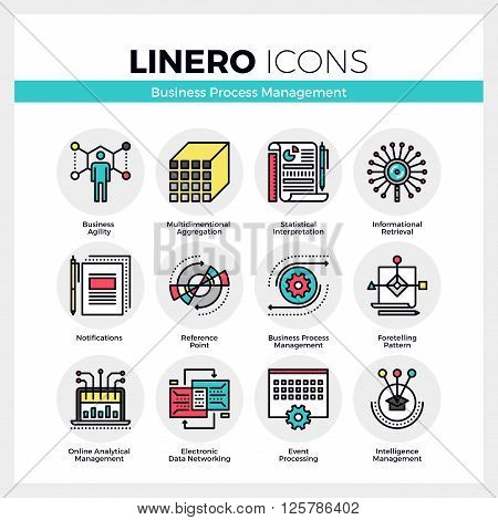 Business Process Management Linero Icons Set