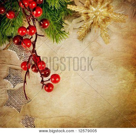 Christmas Greeting Card.Vintage Style