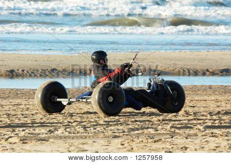 Kite Buggy On The Beach