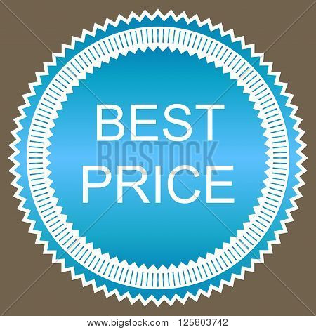 Red best price star button. Vector image.