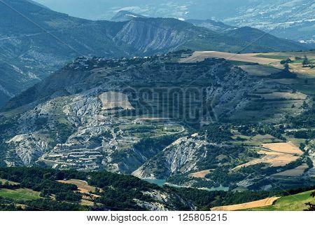 Col-Saint-Jean (Alpes-de-Haute-Provence Provence-Alpes-Cote-d'Azur France): mountain landscape at summer