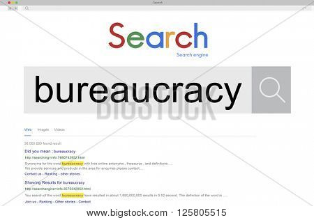 Bureaucracy Organization Government Decision System Concept