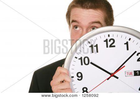 Hombre de negocios con reloj
