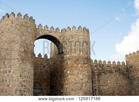 Puerta del Alcazar of castle Avila, Spain ** Note: Soft Focus at 100%, best at smaller sizes