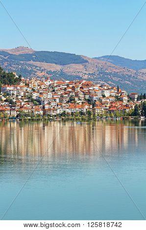 City Kastoria and Lake Orestiada in Greece