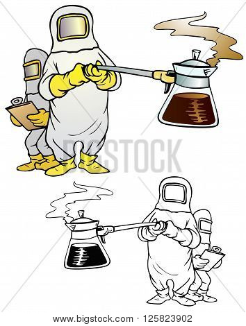 coffee research in extreme conditions, careful steam