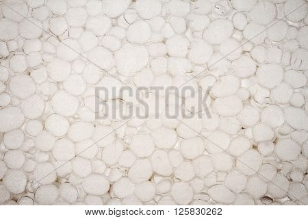 Closeup shot of old grungy styrofoam texture