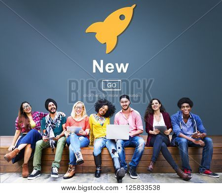 New Newly Modern Present Current Fresh Latest Conecpt
