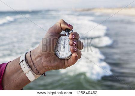 Holding A Chronometer
