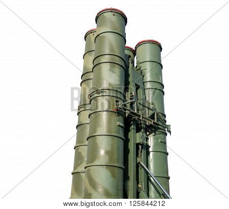 Russian missile systems S-300 against the white background