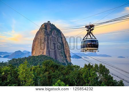 Cable Car And  Sugar Loaf Mountain
