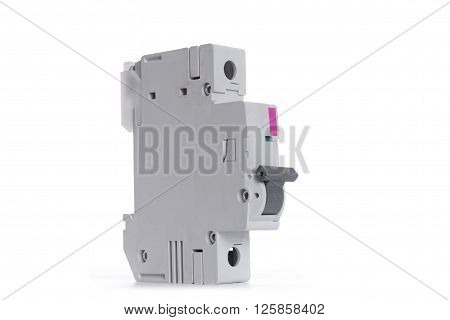 Automatic electricity switch isolated on white background.