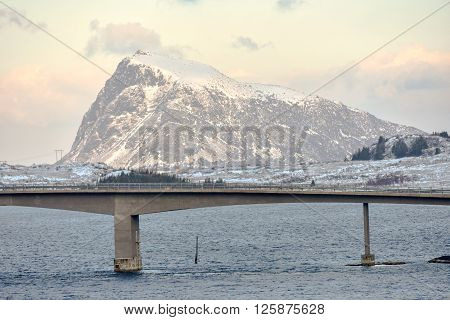 Gimsoystraumen Bridge, Lofoten Islands, Norway