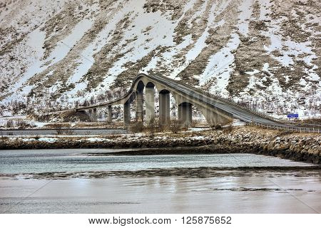 Gimsoystraumen Bridge, Lofoten Islands, Norway