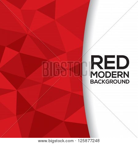 Red Graphic Background With White Space Illustration. EPS 10