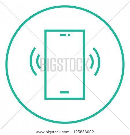 Vibrating phone line icon.