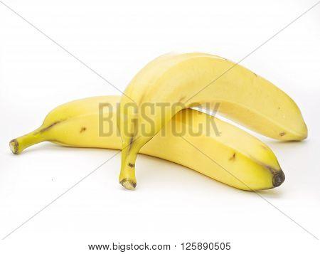 image of banana against isolated on white background