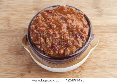 bowl of chili sauce isolated on white background