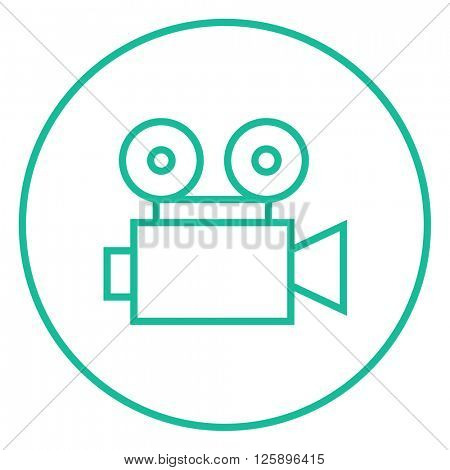 Video camera line icon.