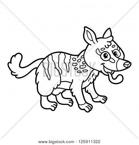 Cute Educational Kids Coloring Page. Vector Illustration Of Educational Coloring  Page With Cute Cartoon Numbat
