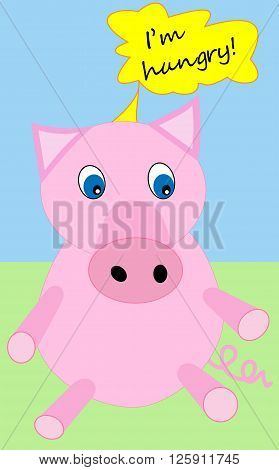 Beautiful pig that says: