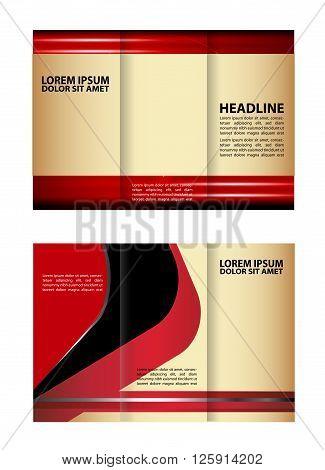 Vector rec brochure template design tri-fold abstract