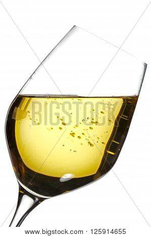 image of wine glass isolated on white background