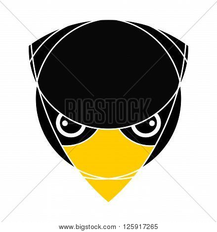 Bird head. Raptor head. Isolated. Logo icon design. Applied for t-shirt website etc