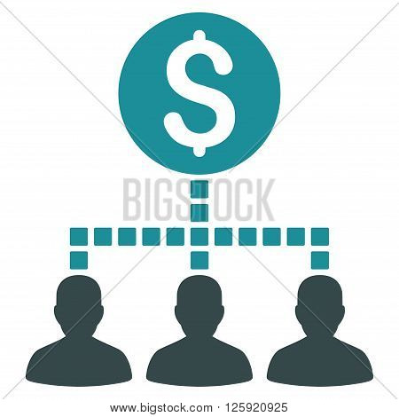 Money Recipients vector toolbar icon. Style is bicolor flat icon symbol, soft blue colors, white background, square dots.