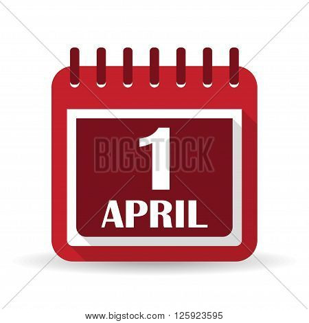 Flat calendar apps icon. 1 april fool's day