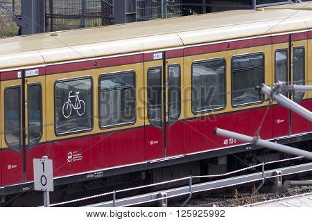 S-bahn Train - Public Transportation In Berlin