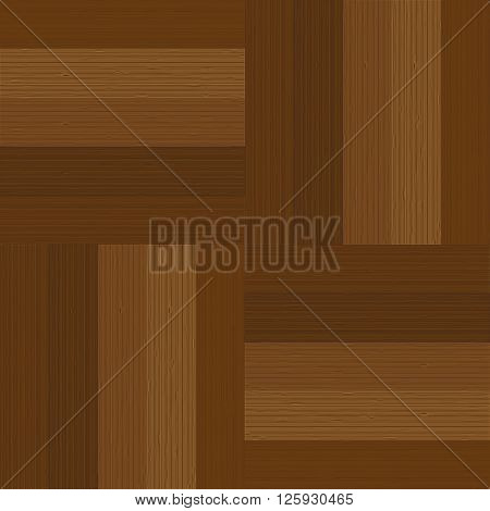 Wooden background. Parquet in the squares. Vector illustration