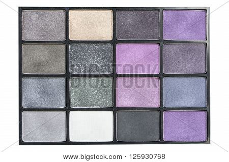 Isolated Natural Smoky And Dark Purple Eyeshadows Palette