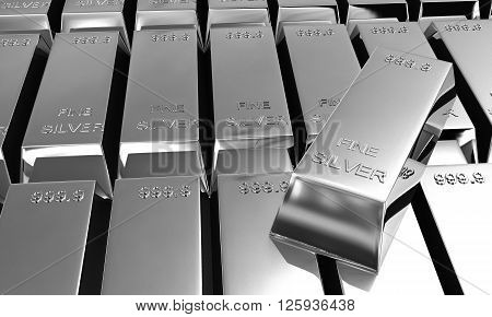 Stack Of Silver Ingots