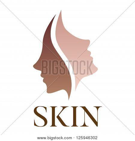 skin vector logo , dark skin turn to bright skin