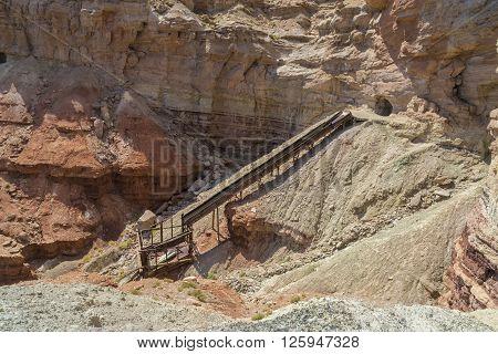 Long abandoned Dirty Devil uranium mine in Emery County Utah in the San Rafael Swell near Hondu Arch.