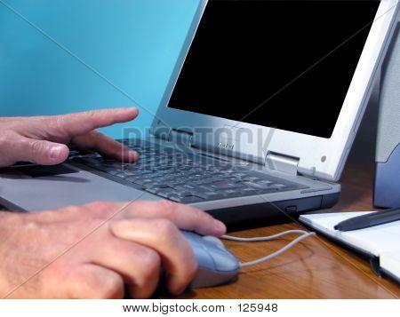 Computer-Hände