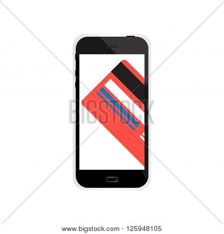 Internet shopping in smartphone with credit card