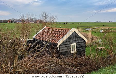 A morning walk on the island of Marken Netherlands.