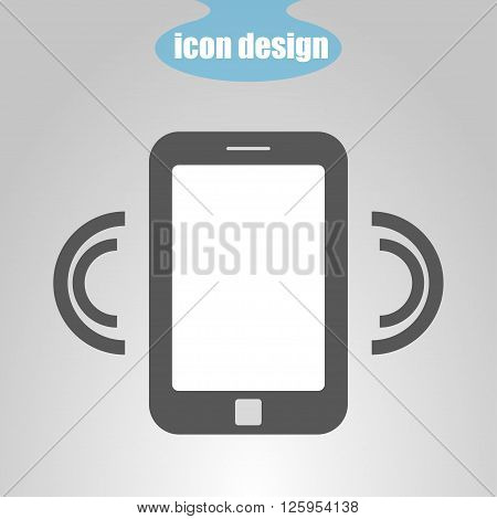 Icon Mobile Phone Caller on a gray background. Vector illustration