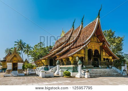 Wat Xieng Thong, Luang Prabang, Laos landmark ** Note: Visible grain at 100%, best at smaller sizes