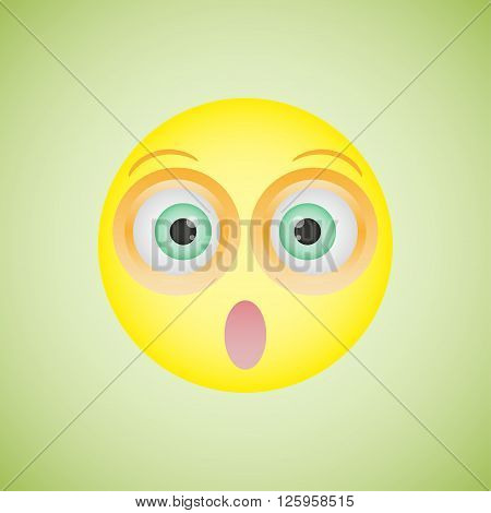 Smiley with an embarrassed emotion. Vector illustration