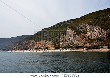 Beach in the bay of Setubal near the Arrabida ridge in Portugal ** Note: Soft Focus at 100%, best at smaller sizes