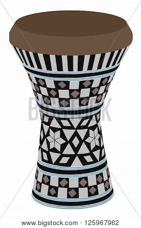 Egyptian musical instrument - darbuka vector - art