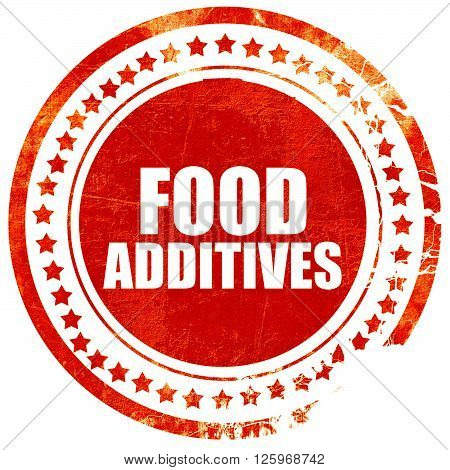food additives, isolated red stamp on a solid white background