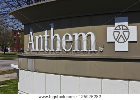 Indianapolis - Circa April 2016: Anthem World Headquarters. Anthem is a Trusted Health Insurance Plan Provider V