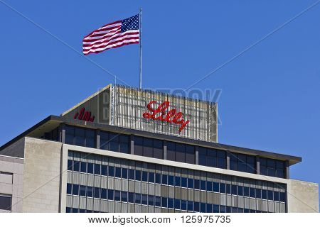Indianapolis - Circa April 2016: Eli Lilly and Company World Headquarters. Lilly makes Medicines and Pharmaceuticals VII