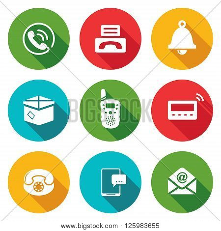 Communication Icons Set. Vector Illustration. Isolated Flat Icons collection