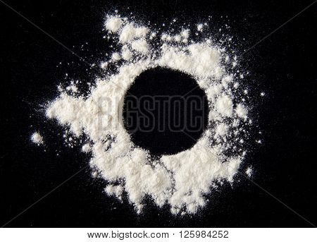 White powder circle background